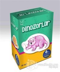 Dinozorlar (6 Adet 2 ve 3 Parçalı Yapboz)