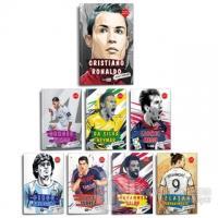 Dünya Futbol Yıldızları Set - (8 Kitap - Poster Hediyeli) (Ciltli)