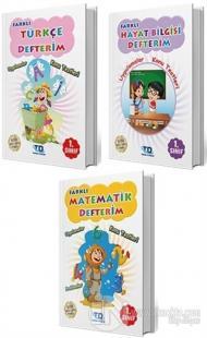 Farklı 1. Sınıf Türkçe - Matematik - Hayat Bilgisi Defterim 3'lü Set