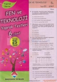 6.Sınıf Fen ve Teknoloji Yaprak Testi