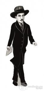 Fernando Pessoa (Karikatür) - Ayraç