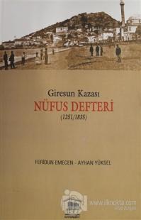 Giresun Kazası Nüfus Defteri (1251/1835)