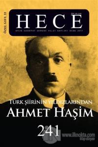 Hece Aylık Edebiyat Dergisi Ahmet Haşim Özel Sayısı: 33 / 241 (Ciltli)