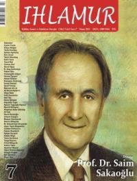 Ihlamur Dergisi Sayı: 7 Saim Sakaoğlu Özel Sayısı