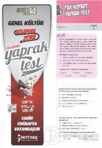 İhtiyaç 2014 KPSS Lisans Genel Kültür Çek Kopart Yaprak Test