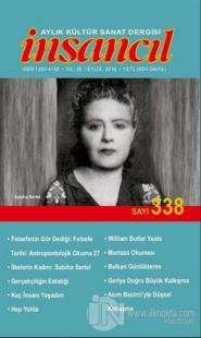 İnsancıl Aylık Kültür Sanat Dergisi Sayı: 338 Eylül 2018