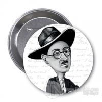 James Joyce (Karikatür) - Rozet