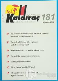 Kaldıraç Dergisi Sayı : 181 Ağustos 2016