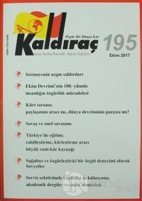 Kaldıraç Dergisi Sayı: 195 Ekim 2017