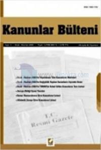 Kanunlar Bülteni Sayı: 3 (Ocak - Haziran 2003)