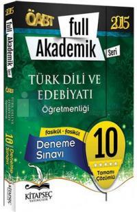 Kitapseç 2015 ÖABT Türk Dili ve Edebiyatı Öğretmenliği 10 Fasikül Deneme Sınavı