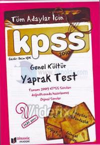 Tüm Adaylar İçin KPSS Genel Kültür Yaprak Test 2010