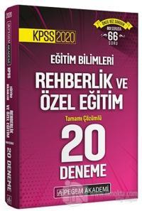 KPSS 2020 Eğitim Bilimleri Rehberlik ve Özel Eğitim Tamamı Çözümlü 20 Deneme