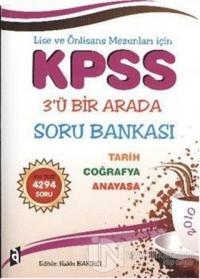 KPSS 3'ü Bir Arada Soru Bankası