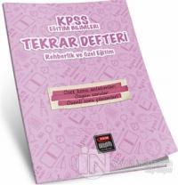 KPSS Eğitim Bilimleri Tekrar Defteri Rehberlik ve Özel Eğitim