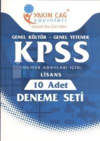 KPSS Genel Kültür - Genel Yetenek Lisans 10 Adet Deneme Seti