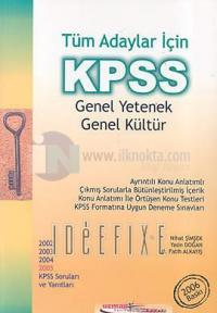 KPSS Genel Yetenek Genel Kültür
