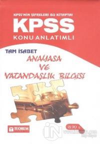KPSS Tam İsabet Anayasa ve Vatandaşlık Bilgisi Konu Anlatımlı