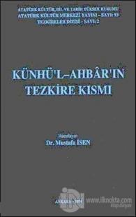Künhü'l-Ahbar'ın Tezkire Kısmı