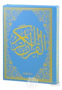 Kur'an-ı Kerim Mavi Cilt (Rahle Boy - Sesli) (Ciltli)