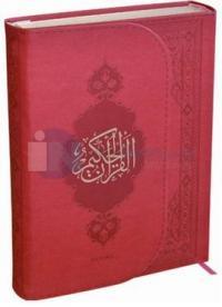Kur'an-ı Kerim (Orta Boy) Kırmızı Termo Deri Miklaplı Mıknatıslı Bilgisayar Hatlı