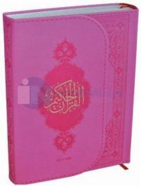Kur'an-ı Kerim (Orta Boy PembeTermo Deri Miklaplı Mıknatıslı Bilgisayar Hatlı