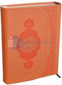 Kur'an-ı Kerim (Orta Boy) Turuncu Termo Deri Miklaplı Mıknatıslı Bilgi