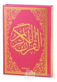 Kur'an-ı Kerim Pembe Cilt (Rahle Boy - Sesli) (Ciltli)