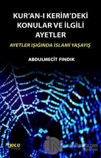 Kur'an-ı Kerim'deki Konular ve İlgili Ayetler %25 indirimli Abdulmecit