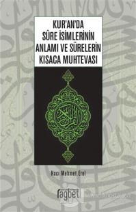 Kur'an'da Sure İsimlerinin Anlamı ve Surelerin Kısaca Muhtevası