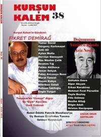 Kurşun Kalem İki Aylık Edebiyat Dergisi Sayı: 38 Kasım - Aralık 2015