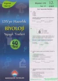 LYS'ye Hazırlık Biyoloji Yaprak Testleri 12. Sınıf