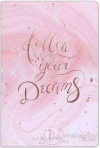 Marble Pembe Follow Your Dreams Defter