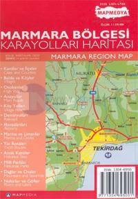 Marmara Bölgesi Karayolları Haritası