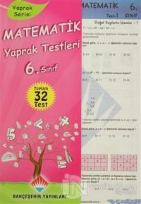 Matematik Yaprak Testleri 6. Sınıf
