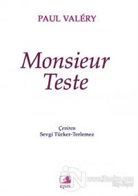Monsieur Teste %10 indirimli Paul Valery