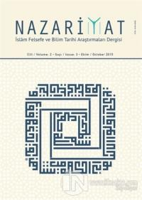 Nazariyat - İslam Felsefe ve Bilim Tarihi Araştırmaları Dergisi Sayı: 3 Ekim 2015