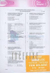 OkulistikFen BilgisiYaprak Test7. Sınıf Kolektif