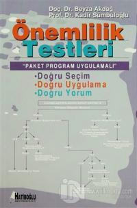 Önemlilik Testleri Paket Program Uygulamalı