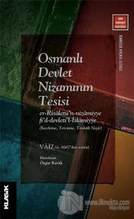 Osmanlı Devlet Nizamının Tesisi Vaiz