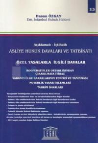 Özel Yasalarla İlgili Davalar - 13. Cilt