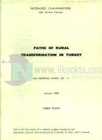 Paths of Rural Transformation in Turkey Esa Working Paper, No.: 11