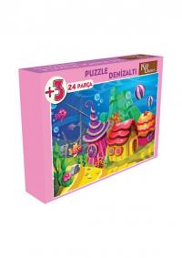 24 Parça Puzzle Deniz Altı