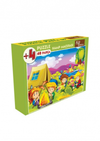 40 Parça Puzzle Kamp Macerası