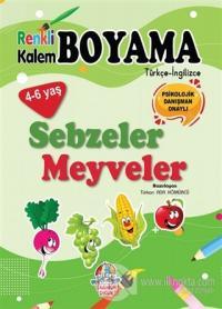 Renkli Kalem Boyama / Sebzeler - Meyveler