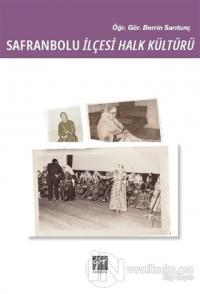 Safranbolu İlçesi Halk Kültürü