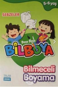 Sebzeler - Doya Doya Bil Boya Bilmeceli Boyama (5-6 Yaş)