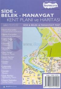 Side - Belek - Manavgat Kent Planı ve Haritası Side & Belek & Manavgat Map
