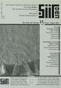 Şiirden İki Aylık Şiir Dergisi Sayı: 15