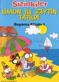 Sizinkiler Limon ile Zeytin Tatilde Boyama Kitabı 1